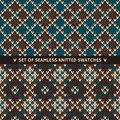 Set Of 2 Seamless Knitted Patterns Royalty Free Stock Photography - 43736657