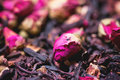 Tea Roses And Dried Hibiscus Flower Royalty Free Stock Image - 43740316
