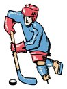 Hockey Player Stock Images - 43741324