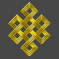 Gold Eternal Knot Charm Symbol Royalty Free Stock Photography - 43746967