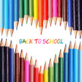 Back To School Concept. Colorful Pencils Stock Photos - 43756943