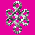 Silver Eternal Knot Charm Symbol Royalty Free Stock Images - 43759299