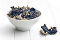 Dried Chinese Black Fungus. Jelly Ear Royalty Free Stock Image - 43764286