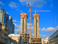 Construction Site Cranes Royalty Free Stock Photography - 43773037
