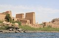 Philae Temple On Agilkia Island As Seen From The Nile. Egypt. Stock Image - 43774561