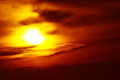 Sun Setting In A Smoky Western Sky Stock Image - 43781941