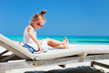 Little Girl With Toy At Beach Royalty Free Stock Photography - 43785767