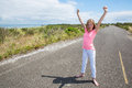 A Proud Teen On An Quiet Road Royalty Free Stock Photos - 43787498