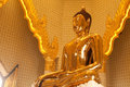 Biggest Golden Buddha Statue In Trimit Temple Stock Photo - 43789340