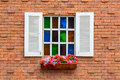 Brick Wall With Window Royalty Free Stock Image - 43790126