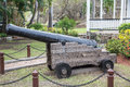 Old Black Cannon In Park Stock Photography - 43796692