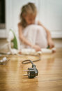 Dangerous Situation At Home. Stock Photography - 43797002