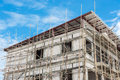 Buildings Are Constructed With Scaffolding Royalty Free Stock Photography - 43799167