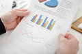 Closeup Of Businessman Looking At A Graph Stock Images - 43799204