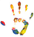 Multicolored Hand Print Stock Photography - 4386712
