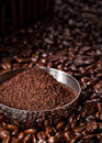 Freshly Ground Coffee Royalty Free Stock Photo - 43807635