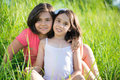 Portrait Of Two Hispanic Teen Girls Royalty Free Stock Photo - 43809645
