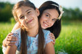 Portrait Of Two Hispanic Teen Girls Royalty Free Stock Photo - 43810645