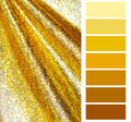Golden Color Chart Selection Stock Images - 43811244