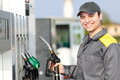 Smiling Gas Station Worker At Work Stock Image - 43814741