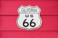 California US Route 66 Sign Stock Photo - 43816210