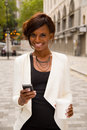 Woman With Phone Stock Photography - 43817332