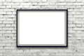 Blank Horizontal Painting Poster In Black Frame Stock Image - 43820751