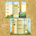 Tri-fold Template Brochure For Environmental Concept Royalty Free Stock Images - 43824899