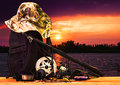 Fishing Gear On The Waterfront Stock Images - 43826154