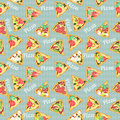 Seamless Texture With Slices Of Pizza Stock Images - 43828874