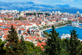 Panoramic View From High On Croatian City Of Split Royalty Free Stock Images - 43829319