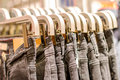 Preview Jeans Hanging On A Hanger In The Store Royalty Free Stock Image - 43832546