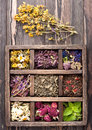 Dried Herbs And Flowers Royalty Free Stock Photo - 43837575