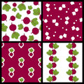 Beet Or Chard Seamless Patterns Set Royalty Free Stock Images - 43843499