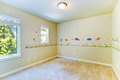 Empty Kids Room With Painted Walls Royalty Free Stock Photo - 43844805