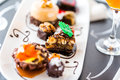 Tasting Of Wine And Pattie Chocolate Pastries At The Chocolate. Royalty Free Stock Photos - 43846328