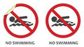 No Swimming Sign Royalty Free Stock Photography - 43850767