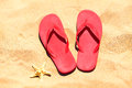 Flip-flops On A Sand Royalty Free Stock Images - 43860349