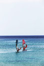Seascape With A Couple Of Windsurf, Miniature Stock Images - 43864984