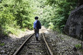 Child Walking On Railway Stock Images - 43875504