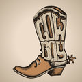 Cowboy Boot.Vector Illustration  Foe Design Royalty Free Stock Images - 43877779