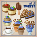 Set Of Sweets. Royalty Free Stock Photos - 43879848