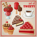 Set Of Sweets. Stock Photography - 43879862