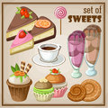 Set Of Sweets. Royalty Free Stock Photos - 43879868