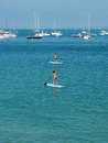 SUP, Paddle Surf In The Beach. Royalty Free Stock Photo - 43880945