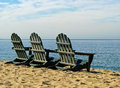 Monterey Bay California Beach Chairs Royalty Free Stock Images - 43888989