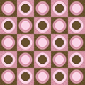 Retro Pink And Brown Circles And Squares Collage Stock Images - 4390504