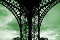 Foot Of The Eiffel Tower On Green Cloud Royalty Free Stock Image - 4390536