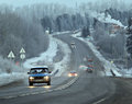 Winter Road Route Blur Truck Stock Images - 43900004