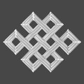Silver Eternal Knot Charm Symbol Royalty Free Stock Photography - 43905127